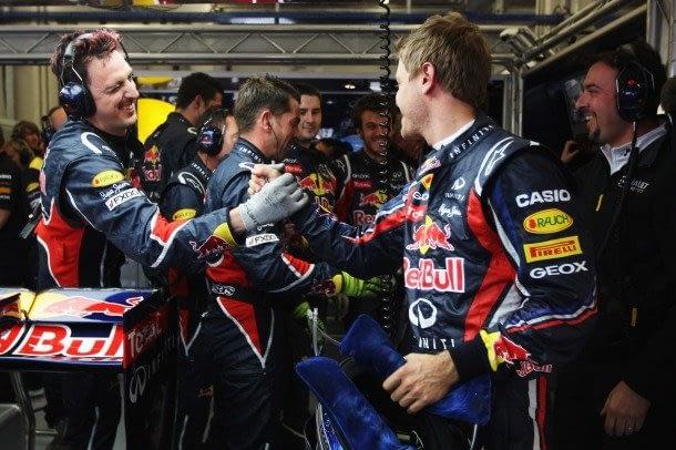 Gareth Rees and Sebastian Vettel