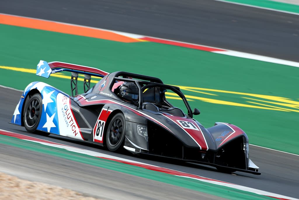 Revolution race car esses racing during grand prix portugal